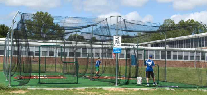 More information about the doube commercial batting cage from On Deck Sports