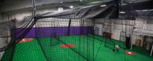 buy custom indoor batting cages for your indoor sports facility from on deck sports