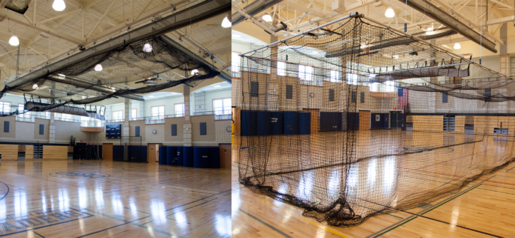 Retractable Ceiling Batting Cage