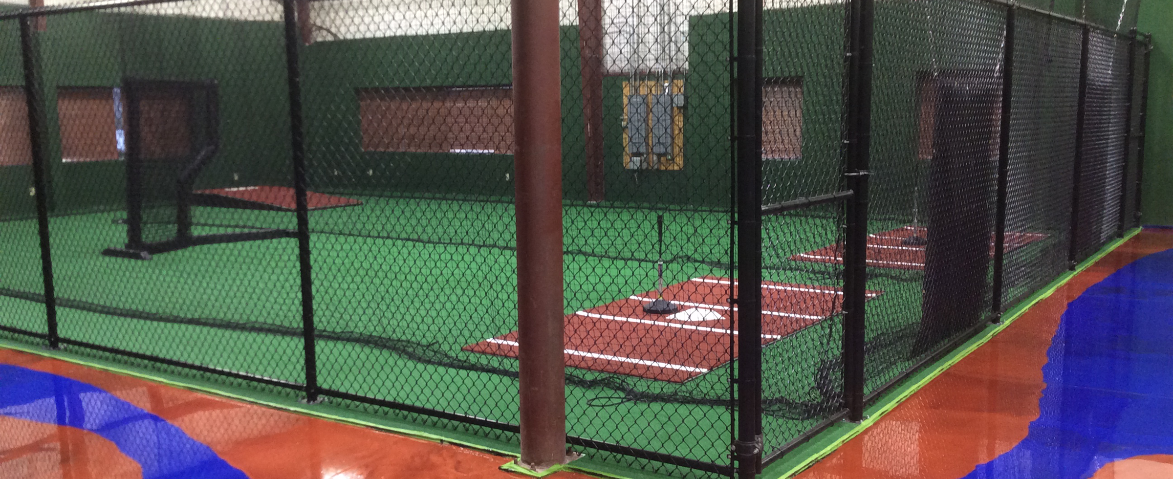 On deck sports facility feature teddy ballgames on deck for Design indoor baseball facility