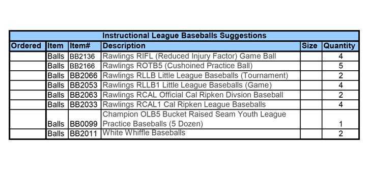 Instructional League Baseballs