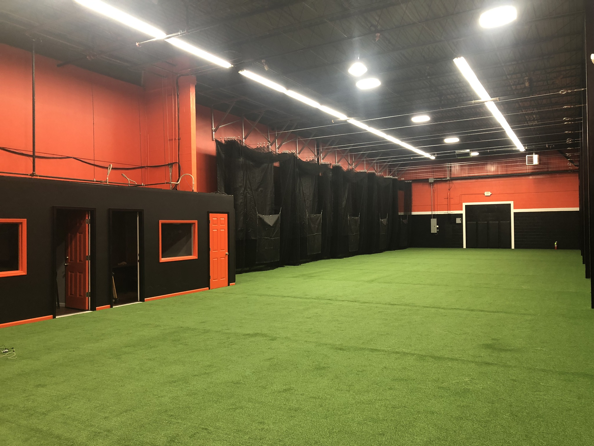 Batting Cages Retracted